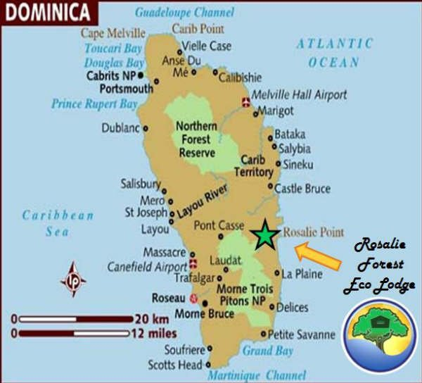 maps directions and trails in dominica nature island of the